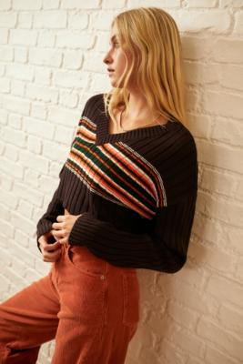 UO Retro Slouchy V-Neck Jumper - Red XS at Urban Outfitters
