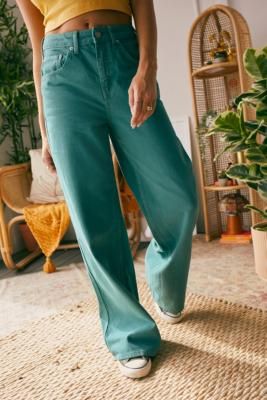 BDG Teal Puddle Jeans - Blue 32 at Urban Outfitters