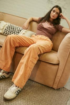 BDG Y2K Low-Rise Cargo Pants - Orange XS at Urban Outfitters