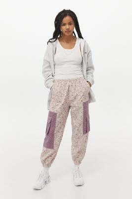 UO Patchwork Joggers - Purple S at Urban Outfitters