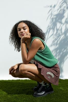 FILA UO Exclusive Chocolate Pleated Golf Skirt - Brown L at Urban Outfitters