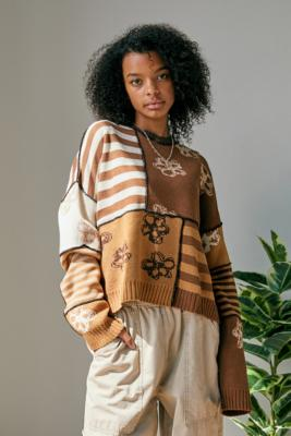 The Ragged Priest UO Exclusive Banger Knit - Brown XS at Urban Outfitters