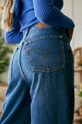 Levi's High Waisted Loose Show Off Jeans - Blue 29W 33L at Urban Outfitters