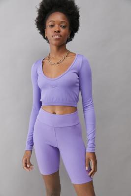 Reebok Classics Purple Foundation Legging Shorts - Purple S at Urban Outfitters