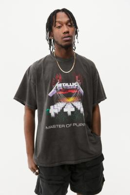UO Washed Black Metallica T-Shirt - Black S at Urban Outfitters