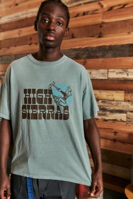 UO Washed Blue High Sierras T-Shirt - Blue S at Urban Outfitters