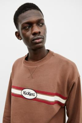 Kickers UO Exclusive Brown Motive Crew Neck Sweatshirt - Brown M at Urban Outfitters