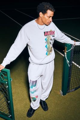 Prince UO Exclusive White Multi Logo Joggers - White S at Urban Outfitters