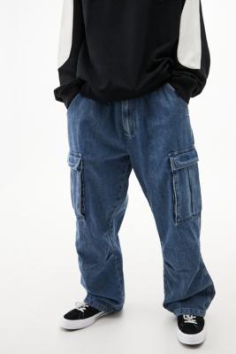 BDG Indigo Denim Cargo Jeans - Blue 32W 32L at Urban Outfitters