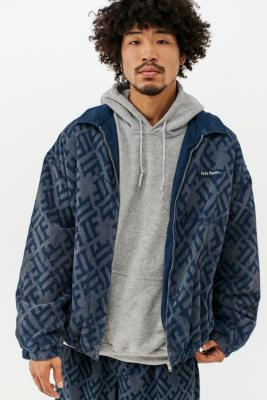 iets frans. Blue Panel Corduroy Harrington Jacket - Blue L at Urban Outfitters