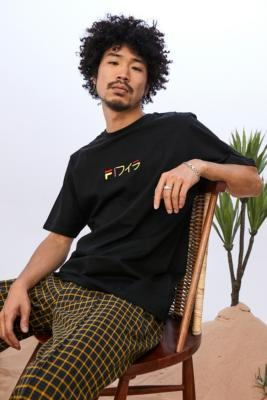 FILA UO Exclusive Black & Yellow Kobe T-Shirt - Black S at Urban Outfitters