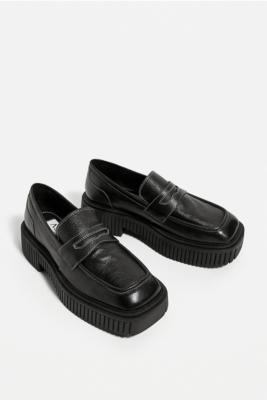 ASRA Black Flax Loafers - Black UK 8 at Urban Outfitters