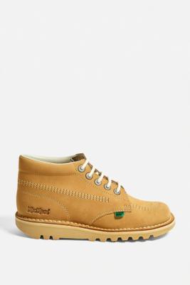 Kickers Kick Hi Tan Nubuck Boots - Brown UK 4 at Urban Outfitters