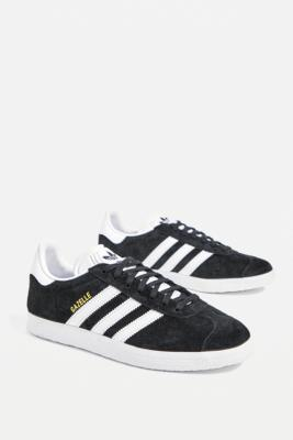 adidas Originals Black Suede Gazelle Trainers - Black UK 6 at Urban Outfitters