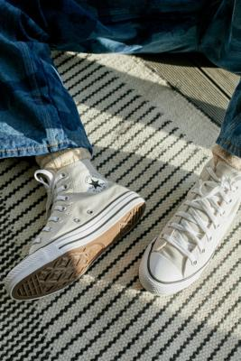 Converse Pale Putty Chuck Taylor All Star High-Top Trainers - White UK 8 at Urban Outfitters