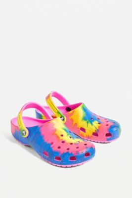 Crocs Multi Tie-Dye Classic Clogs - Assorted UK 9 at Urban Outfitters