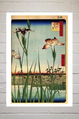 Iris Garden By Hiroshige Wall Art - Assorted UK 3 at Urban Outfitters