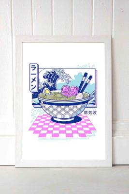 Vincent Trinidad Vaporwave Ramen Wall Art Print - White 2 at Urban Outfitters