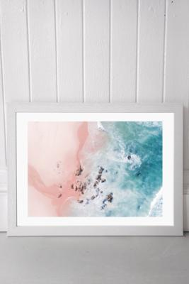 Ingrid Beddoes Sea Bliss Wall Art Print - White UK 3 at Urban Outfitters