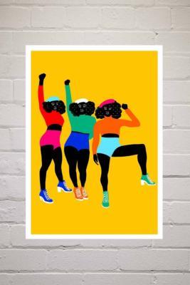 Aurelia Durand Haut En Couleur Wall Art Print - Assorted UK 3 at Urban Outfitters