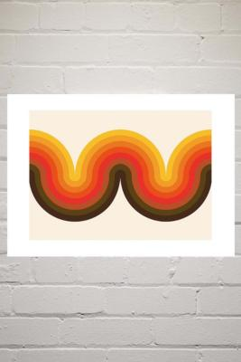 Delta Nova Beyond The Curve Wall Art Print - Assorted 2 at Urban Outfitters
