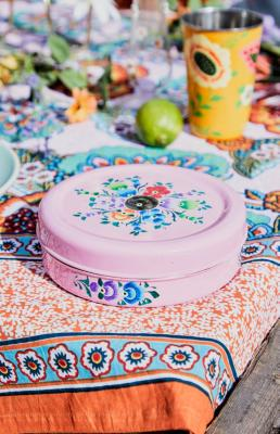 Birch & Yarn Pink Floral Hand-Painted Storage Tins 3-Pack - Assorted ALL at Urban Outfitters
